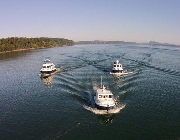 Trio aerial photo - Sept 2015 boat show